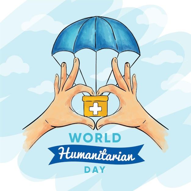 Cassetta di pronto soccorso per la giornata mondiale umanitaria Vettore gratuito