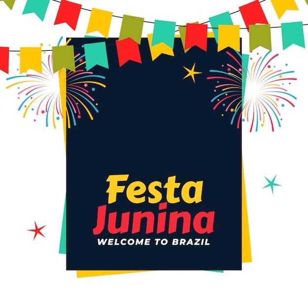 Celebrazione brasiliana festa junina Vettore gratuito