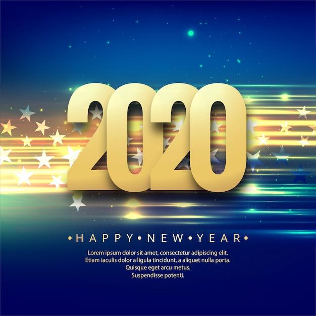 Celebrazione capodanno 2020 creativo colorato Vettore gratuito