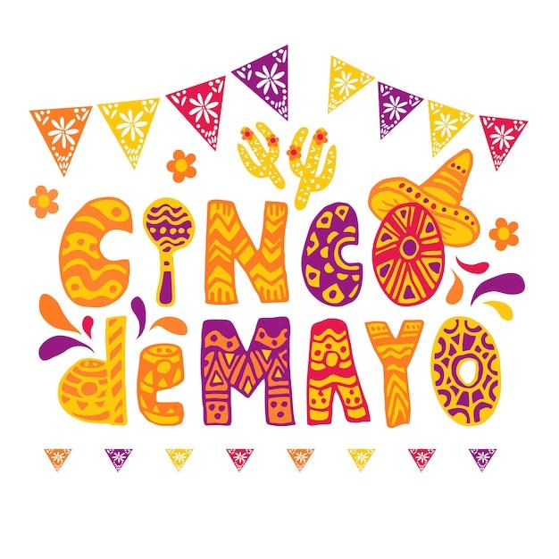 Celebrazione cinco de mayo Vettore gratuito