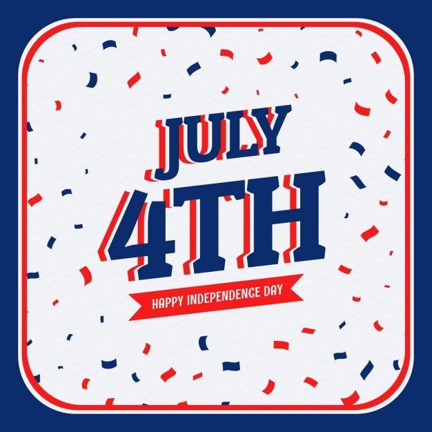 Celebrazione del 4 luglio Vettore gratuito