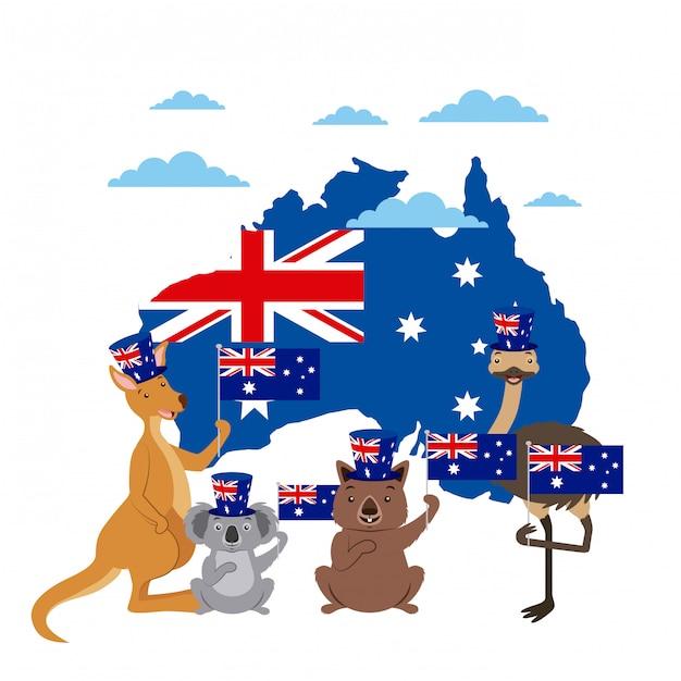 Celebrazione del giorno degli animali in australia Vettore gratuito