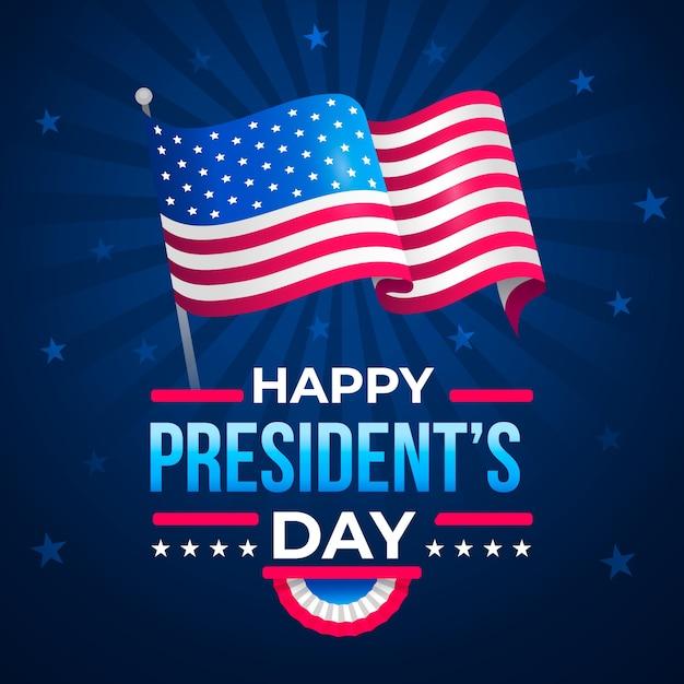 Celebrazione del giorno dei presidenti di design piatto Vettore gratuito