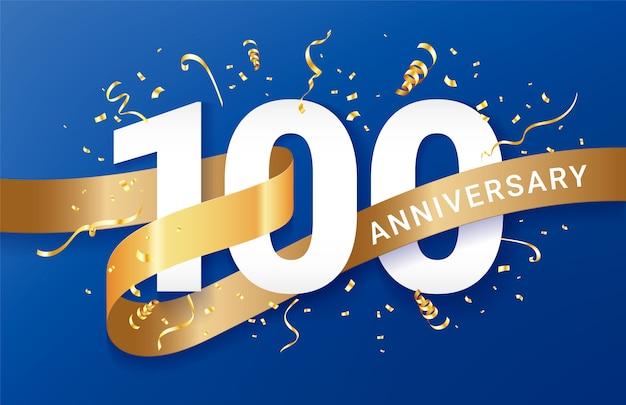 Celebrazione dell'anniversario Vettore Premium