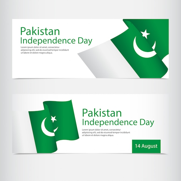 Celebrazione della festa dell'indipendenza del pakistan Vettore Premium