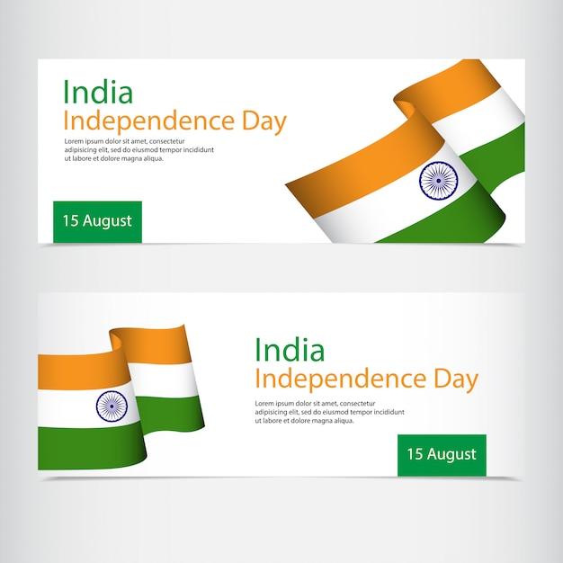 Celebrazione della festa dell'indipendenza dell'india Vettore Premium