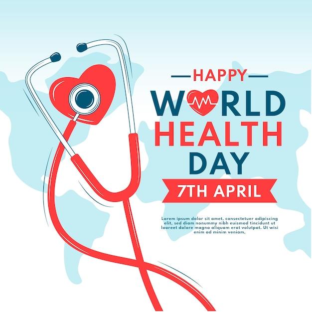 Celebrazione della giornata della salute workd disegnati a mano Vettore gratuito