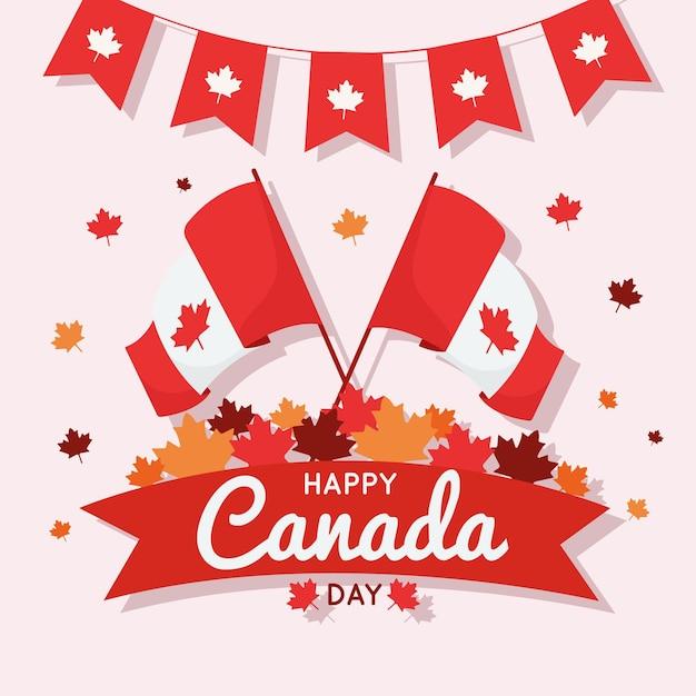 Celebrazione di giorno del canada design piatto Vettore gratuito