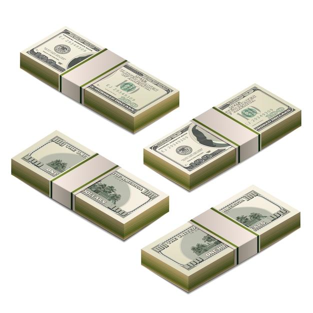 Cento dollari americani Vettore Premium
