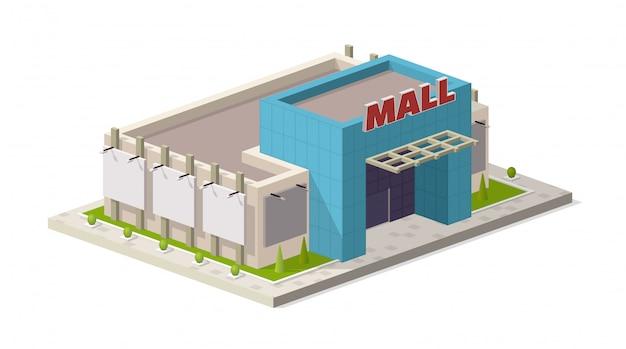 Centro isometrico moderno centro commerciale Vettore Premium