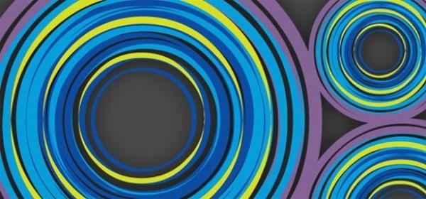 Astratto Sfondo Pallavolo Disegno Vettoriale: Cerchi Colorati Astratto Sfondo Vettoriale