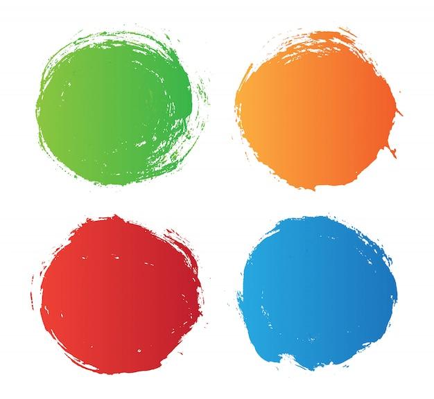 Cerchi colorati grunge Vettore Premium