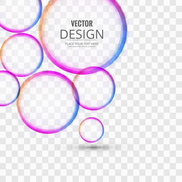 cerchi colorati Vettore gratuito