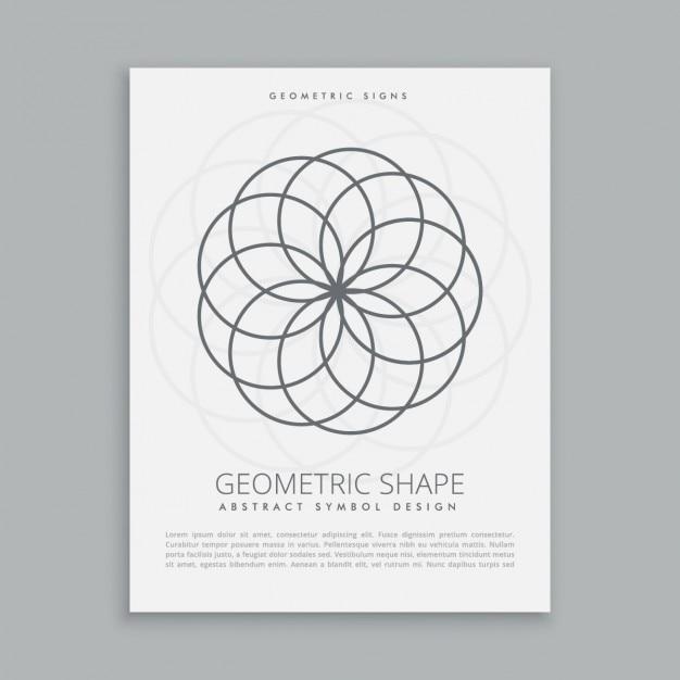 Cerchi forme geometriche Vettore gratuito