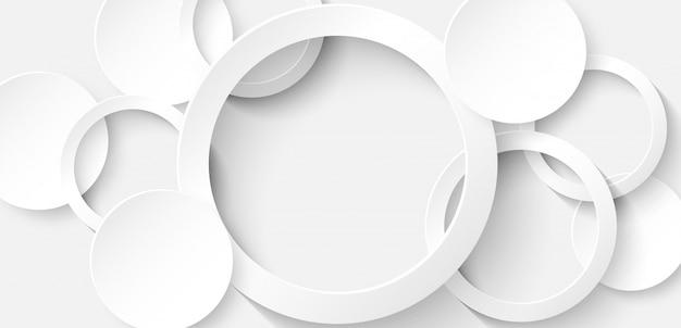 Cerchio bianco sullo sfondo Vettore Premium