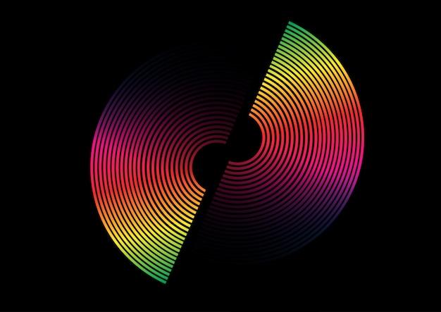 Cerchio colorato arcobaleno Vettore gratuito