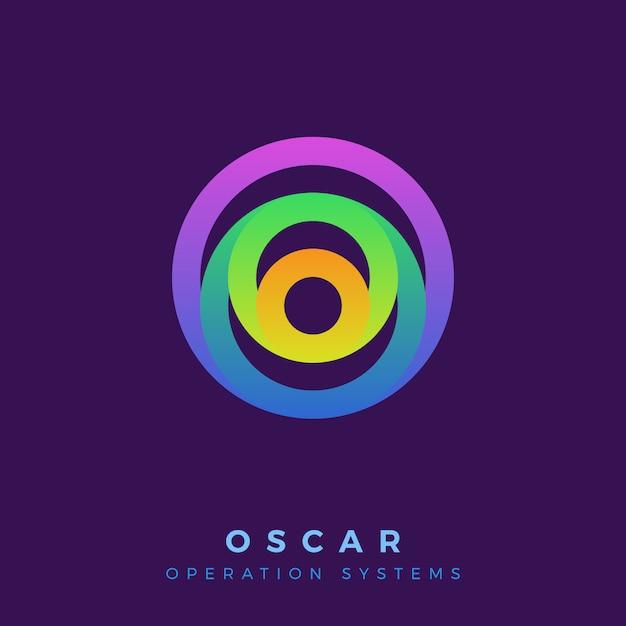 Cerchio colorato creativo con logo a strati. Vettore Premium