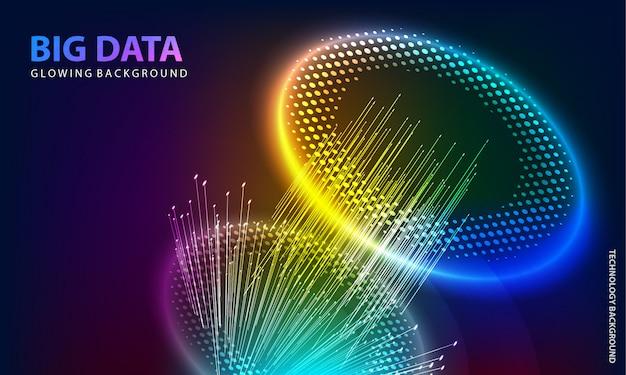 Cerchio colorato sfondo incandescente Vettore Premium
