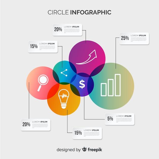 Cerchio infografica Vettore gratuito