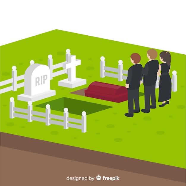 Cerimonia funebre Vettore gratuito