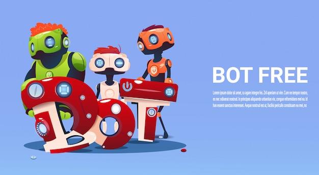 Chat bot gratuito robot assistenza virtuale del sito web o applicazioni mobili, intelligenza artificiale co Vettore Premium