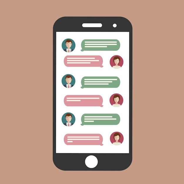 Chat cellulare Vettore gratuito