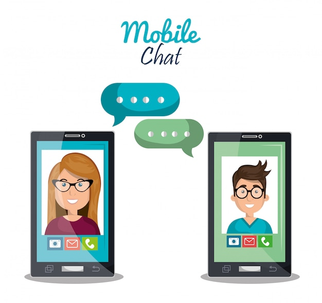Chat mobile Vettore gratuito