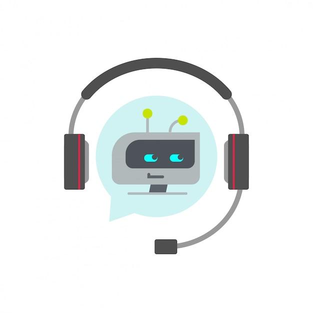 Chatbot o bot icona di supporto vettoriale Vettore Premium