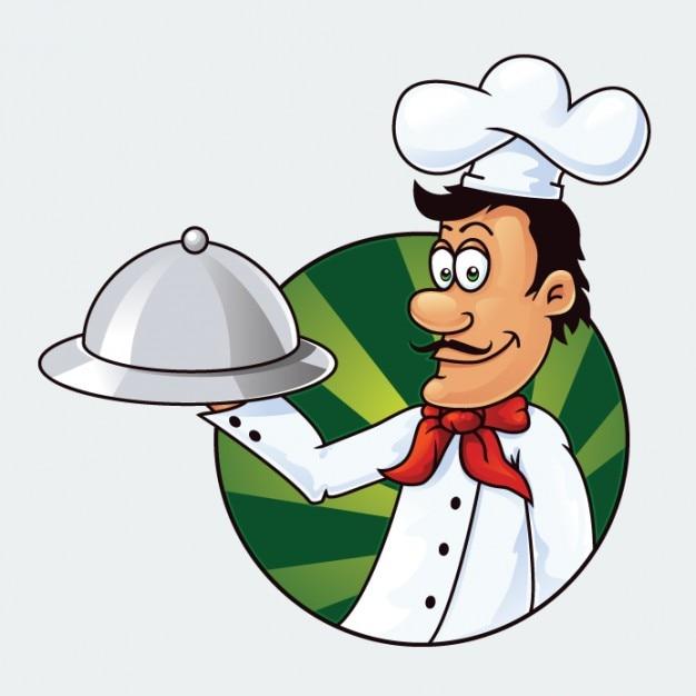 Chef cartone animato carattere illustrazione vettoriale
