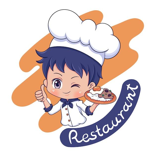 Chef del personaggio maschile 03 Vettore Premium