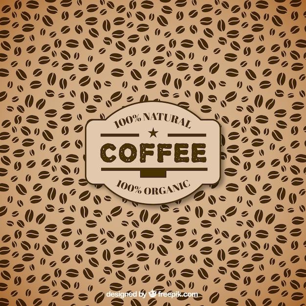 Chicchi di caffè modello Vettore gratuito
