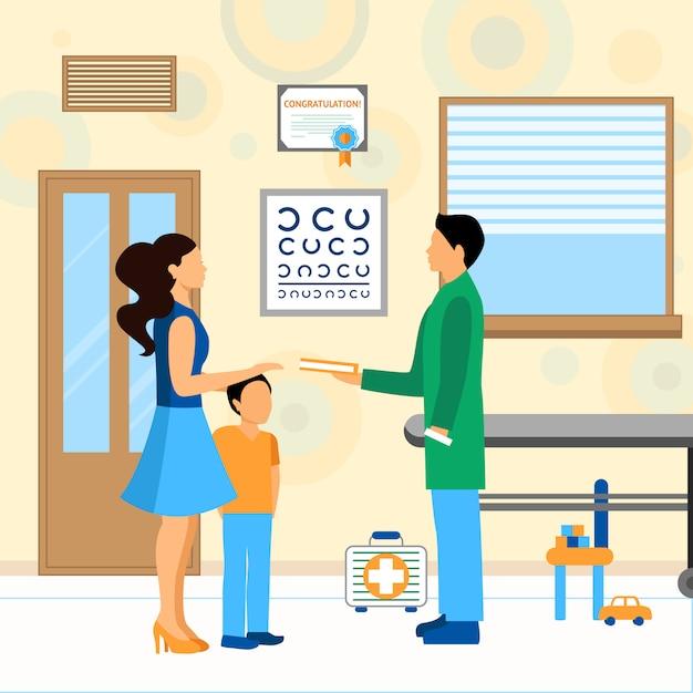 Child doctor pediatra illustration Vettore gratuito