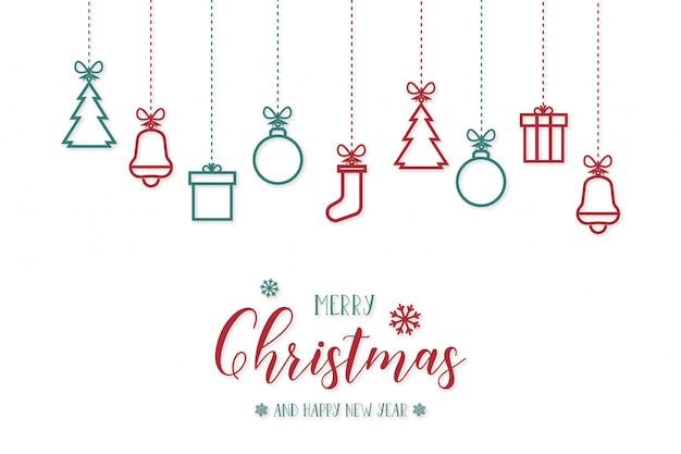 Christmasobjects Vettore gratuito