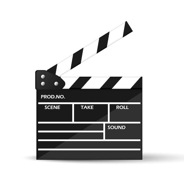 Ciak del cinema realistico Vettore Premium