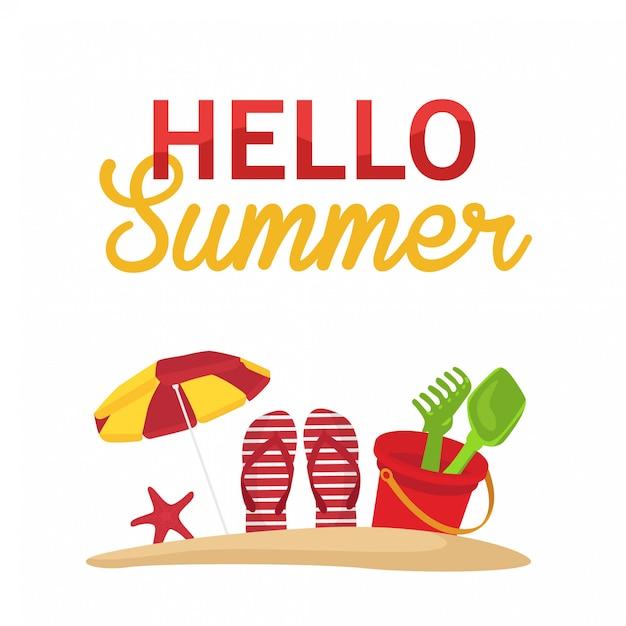 Ciao estate arrivederci primavera Vettore Premium