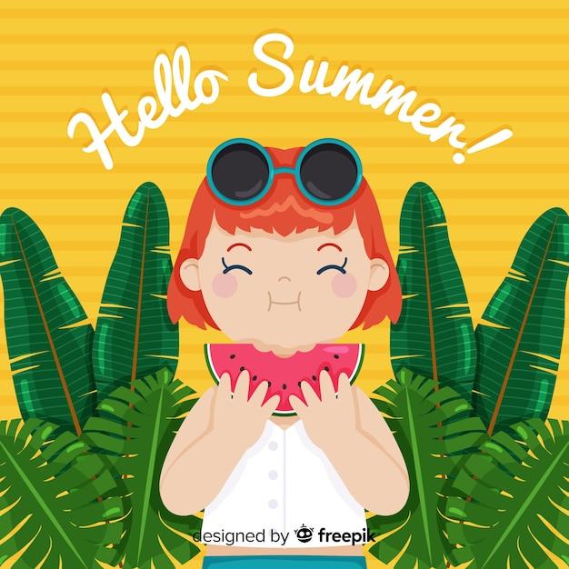 Ciao estate Vettore gratuito