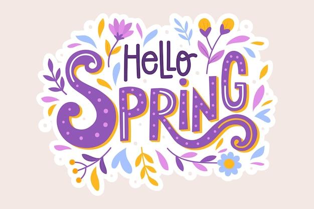 Ciao lettere di primavera Vettore gratuito
