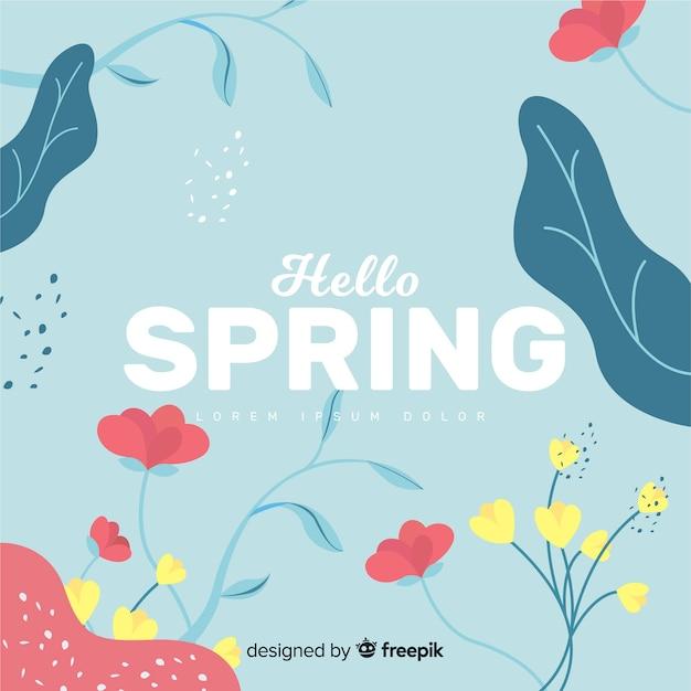 Ciao primavera sfondo Vettore gratuito