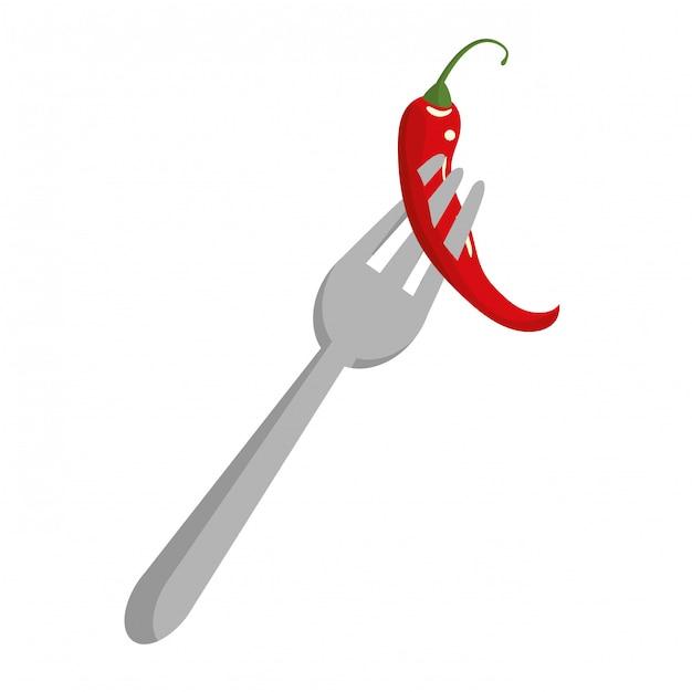 Cibo messicano al peperoncino Vettore Premium