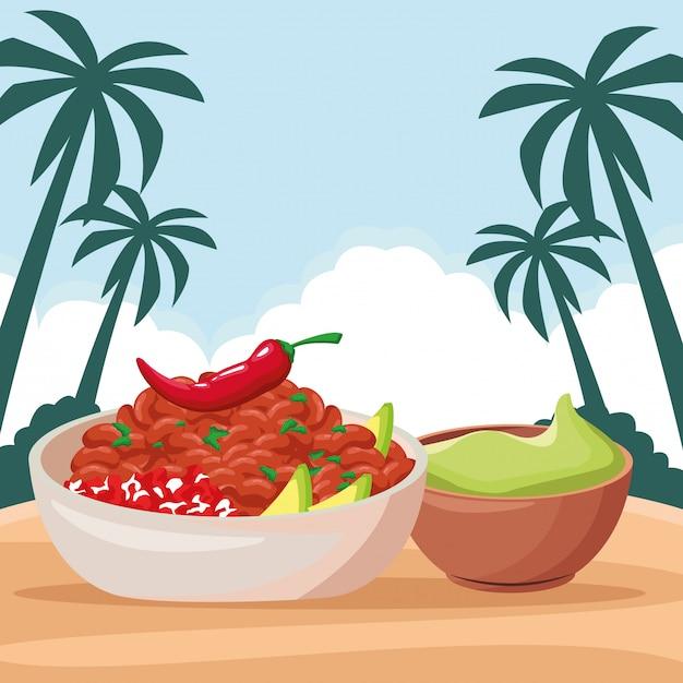 Cibo messicano e cultura tradizionale Vettore gratuito