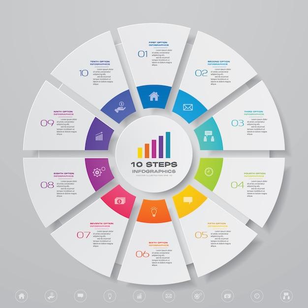 Ciclo grafico elemento infografica Vettore Premium