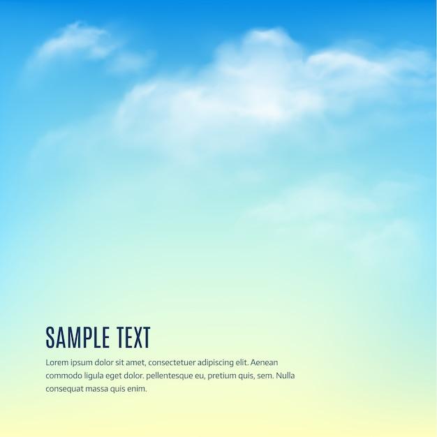 Cielo azzurro con nuvole Vettore Premium
