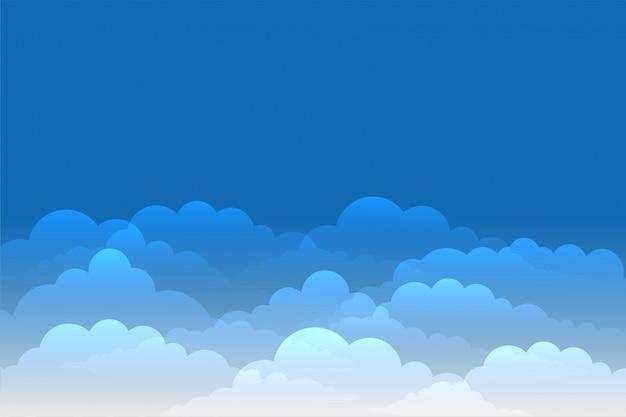Cielo blu con sfondo di nuvole lucenti Vettore gratuito
