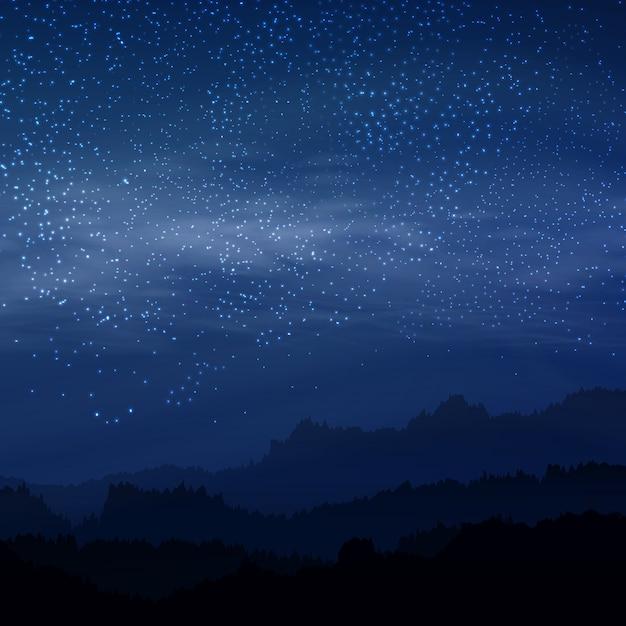 Cielo Rosso Di Notte.Cielo Elegante Scuro Con Le Stelle Reali Nel Colore Rosso Reale Di