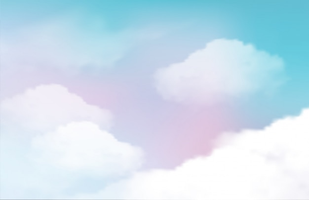 Cielo natura paesaggio sullo sfondo Vettore Premium