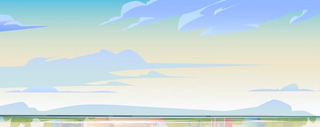 Cielo o cielo e superficie dell'acqua, paesaggio naturale Vettore gratuito
