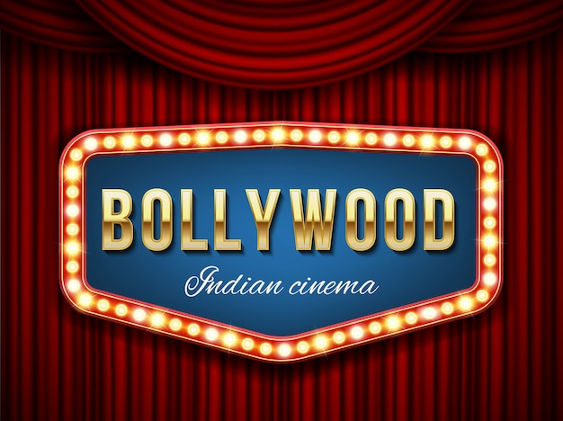 Cinema di bollywood Vettore Premium