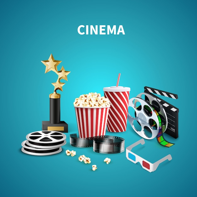 Cinema realistico Vettore gratuito