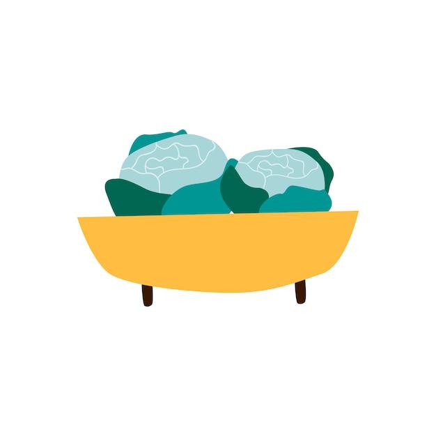 Ciotola con il vettore di cibo sano di verdi biologici Vettore gratuito