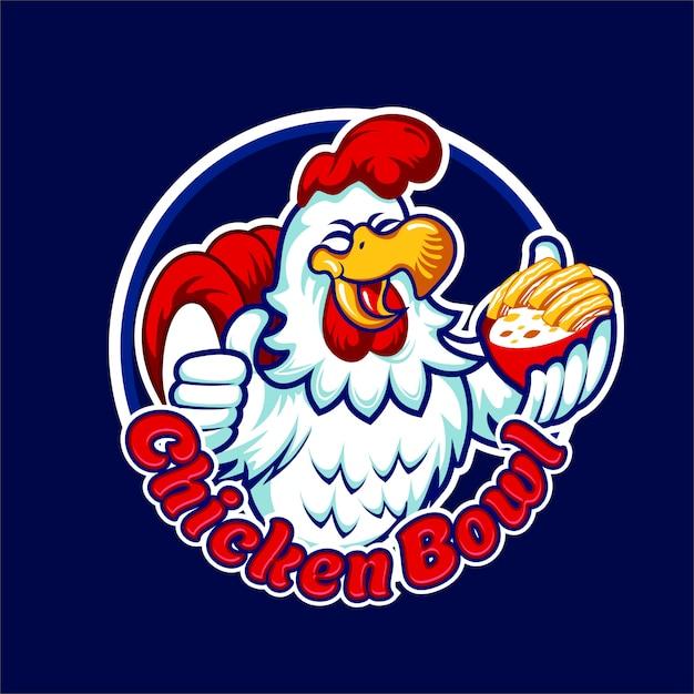 Ciotola di pollo Vettore Premium